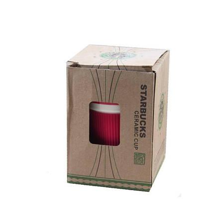 Керамическая чашка Starbucks Eco cup (Красная), фото 2