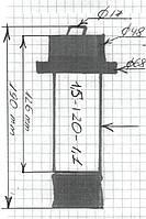 Ремкомплект для шнекового насоса (шнек 1.5-120-1.1)