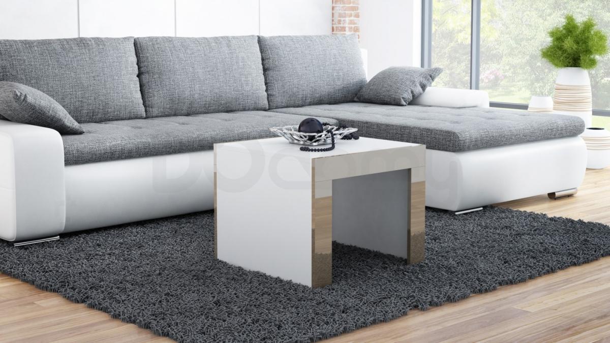 Журнальный столик TESS 60 CAMA Белый матовый / Латте глянец