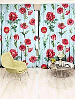 Фотоштора Walldeco Красные цветы (29453_1_1)