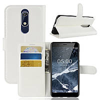 Чехол-книжка Litchie Wallet для Nokia 5.1 Белый