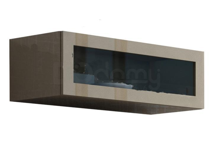 Витрина навесная стекло VIGO CAMA Латте матовый / Латте глянец
