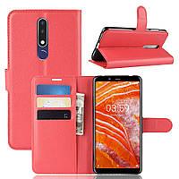 Чехол-книжка Litchie Wallet для Nokia 3.1 Plus Красный