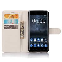 Чехол-книжка Litchie Wallet для Nokia 6 Белый