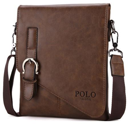 Мужская кожаная сумка Polo Vicuna Brown