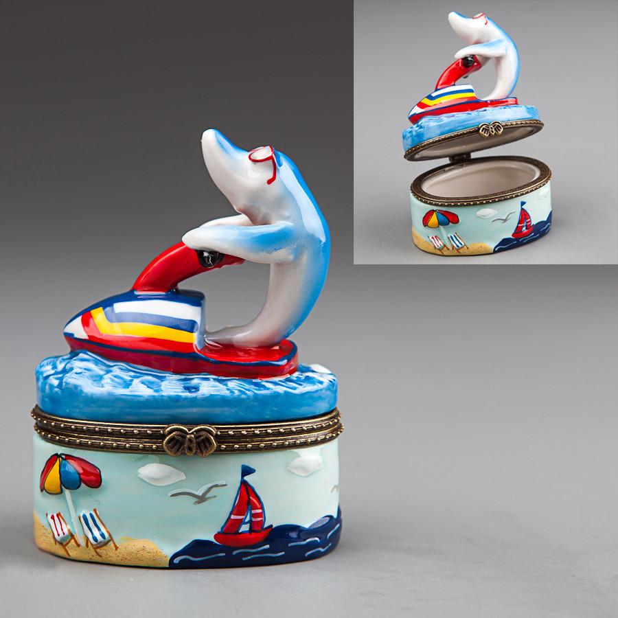 """Шкатулочка """"Дельфин"""" 8 см (003E)"""