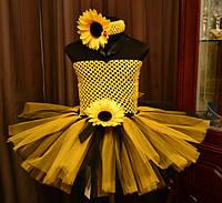 Детское платье с подсолнух