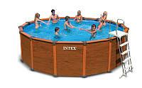 Каркасный бассейн с деревянными панелями Intex 54930