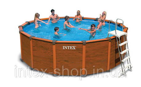Каркасный бассейн с деревянными панелями Intex 54930, фото 2