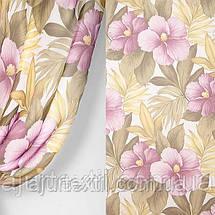 """Тюль печать """"Фиолетовый цветок"""", фото 2"""