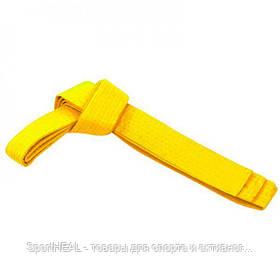 Пояс для кимоно Matsa 0040-280-1 желтый 2,8м