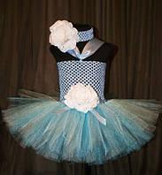 Голубое платье пачка