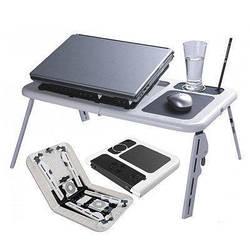 Cтолик для ноутбука с охлаждением 2 USB кулерами LD 09 E-TABLE