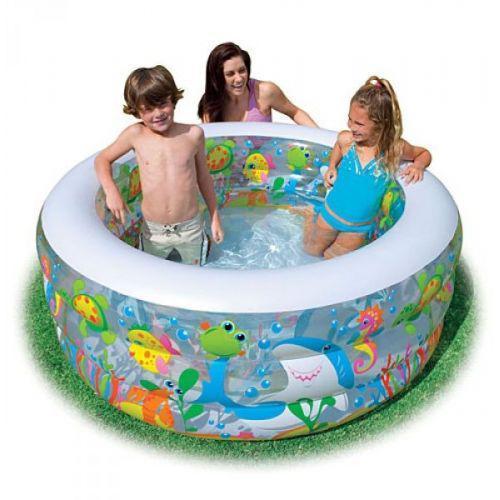 """Детский надувной бассейн """"Аквариум"""" Intex 58480 (152x56 см.) надувное дно"""
