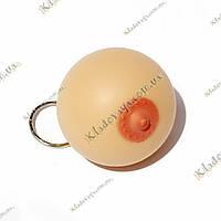Брелок анти стресс Женская грудь 5 см, фото 1