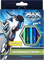 Фломастеры,набор 12шт Макс Стил MX14-046K