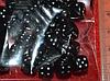 Бусина пластиковая кубики чёрные ( упак. 33 шт)