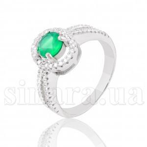 Серебряное кольцо с изумрудом 28185