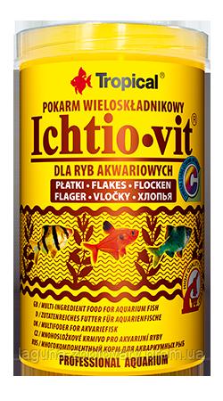 ТРОПИКАЛ ИХТИОВИТ -универсальный корм для всех видов аквариумных рыб, 1000мл, 200гр.