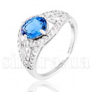 Серебряное кольцо с лондон топазом 28933