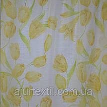 """Тюль печать """"Желтые тюльпаны"""", фото 2"""