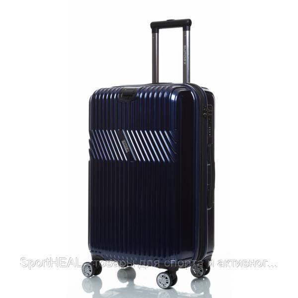 Чемодан пластиковый Sumdex 724 средний темно-синий