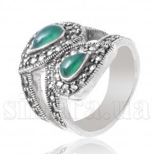 Серебряное кольцо с малахитом 4590