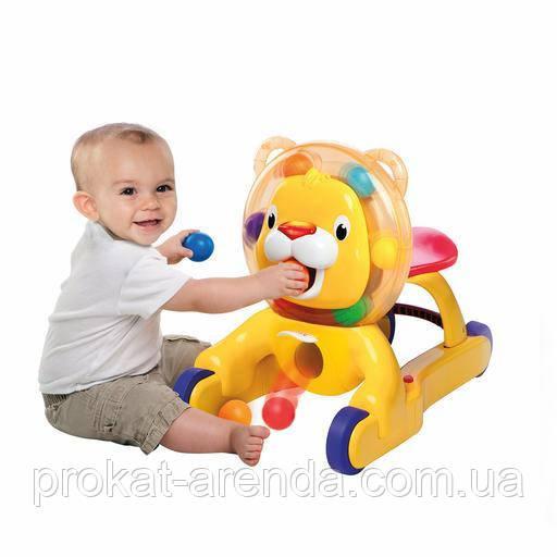 """Интерактивная игрушка - толкатель, велобег """"  Лев"""" , фото 1"""