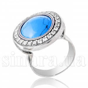 Серебряное кольцо с ониксом 7727