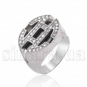 Серебряное кольцо с ониксом 8115
