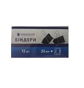 Биндер 32мм NV-75308 черный (12/1440) (NAVIGATOR) Ш.К. 4820145120373