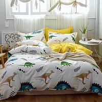 Постельное белье комплект Динозавры (двуспальный-евро) Berni