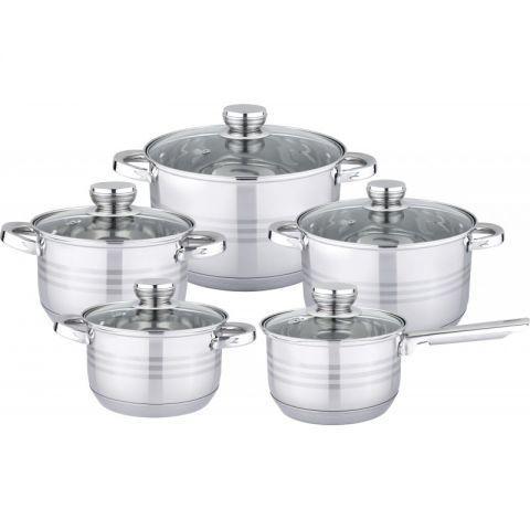 Посуда BOHMANN BH-1242 кухонный набор посуды кастрюль 10 предметов
