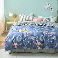 Постельное белье комплект Милый Фламинго (полуторный) Berni