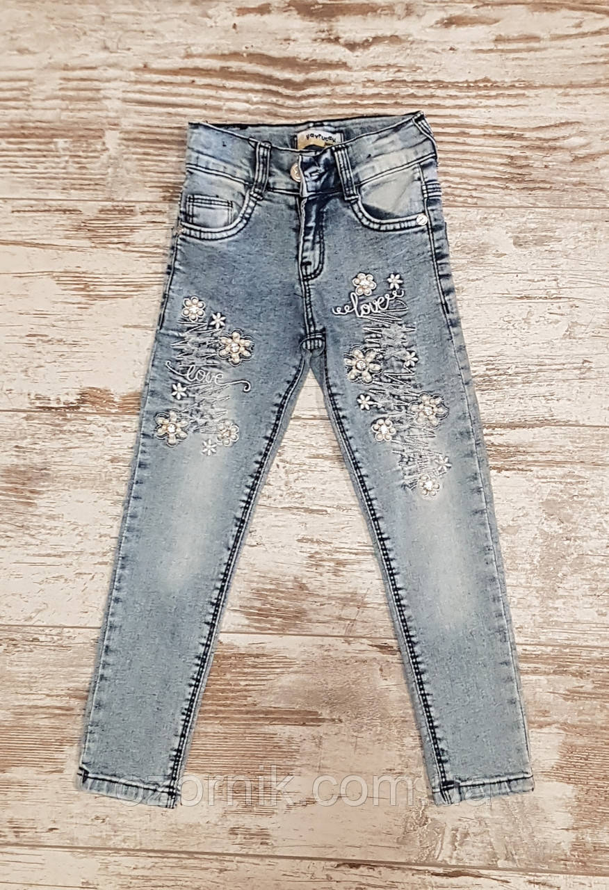 Стильні Оптом модні джинси для дівчаток (5-8 років) Туреччина.