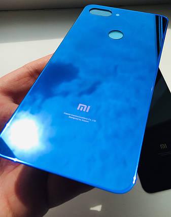 Задняя крышка для Xiaomi Mi 8 Lite синяя, фото 2