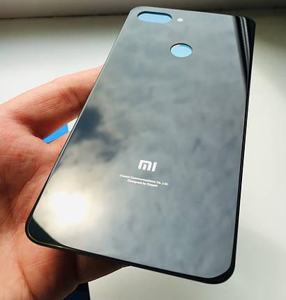 Задняя крышка для Xiaomi Mi 8 Lite черная, фото 2