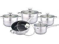Комплект кастрюль универсальный BOHMANN  ВН 1912-10 MRB набор посуды 10 предметов
