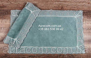 Maco berra murdum, Набор ковриков с кружевами, два коврика в наборе