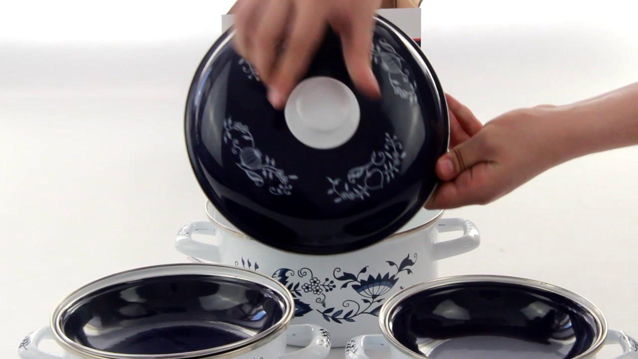 Набор кастрюль эмалированная посуда BOHMANN ВН 8306 кастрюли 3 шт 6 предметов