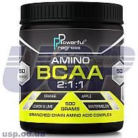 Powerful Progress BCAA 2:1:1 БЦАА аминокислоты для восстановления мышц спортивное питание для тренировок