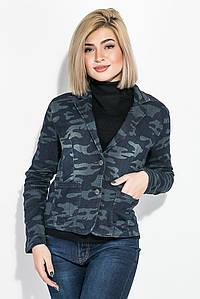 Пиджак женский милитари 118V001 (Сине-серый)