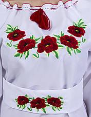 """Вишите плаття""""МАК"""" з довгим рукавом, фото 3"""