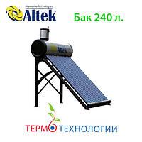 Altek гелиосистема 240 литров SP-C-24. Безнапорная термосифонная с напорным теплообменником, фото 1