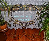 "Подставка для цветов ""Сердце среднее на пьедестале на 14 колец"" , фото 1"