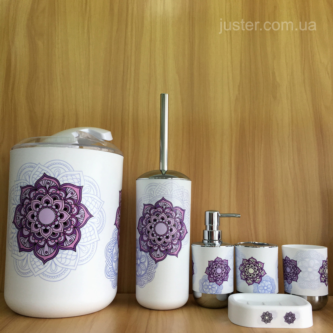 Набор аксессуаров для ванной комнаты Bathlux Flor De Clasico на 6 предметов
