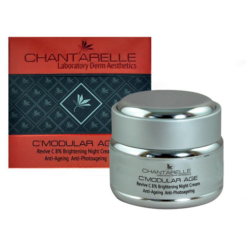 Отбеливающий ночной крем  с витамином С Revive C 8 % Brightening Night Cream 50 ml Chantarelle