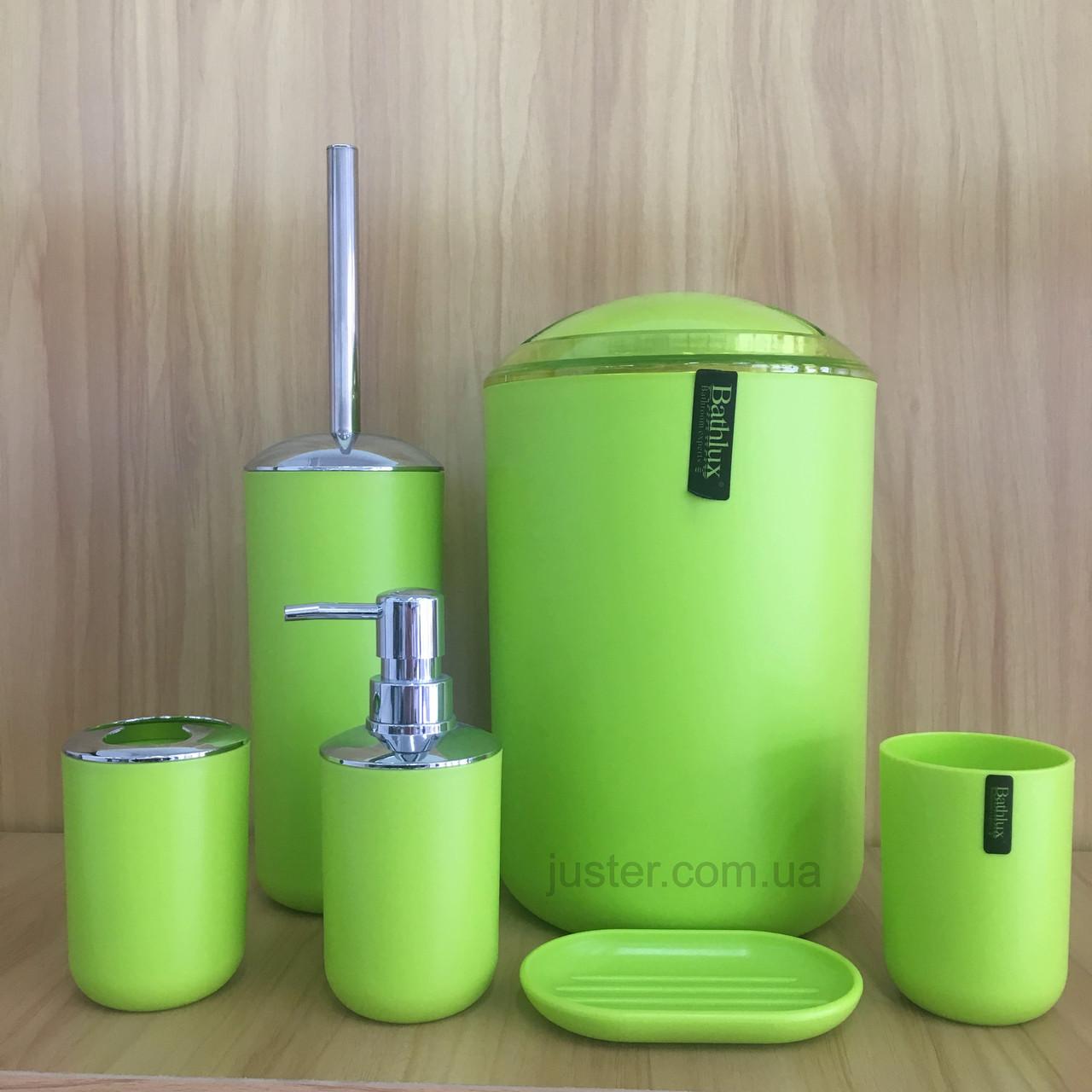 Набор аксессуаров для ванной комнаты Bathlux Green Mate на 6 предметов