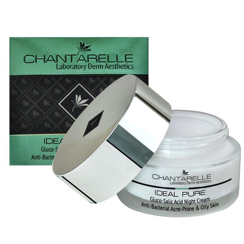 Антибактеріальний нічний крем Gluco-Salic Acid Night Cream) 50 ml Chantarelle