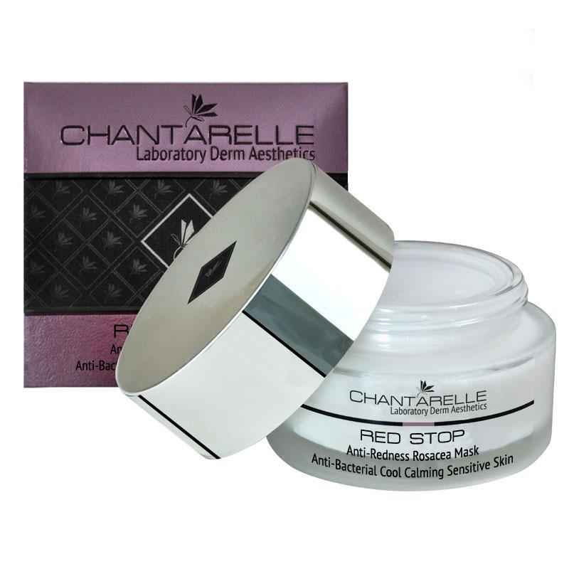 Успокаивающая, антибактериальная  при куперозе и розацеа   Anti-Bacterial Rosacea Mask 50 ml Chantarelle